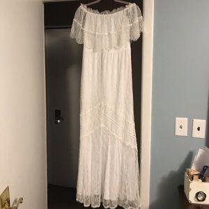 Express lace white dress